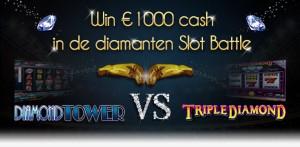 Slot Battle bij Casino777: Triple Diamond vs Diamond Tower!