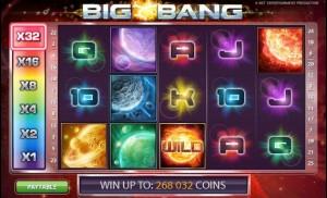 Big Bang videoslot