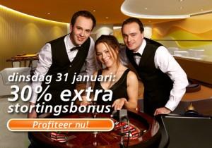 Actiebonus ter ere van het live casino van Oranje Casino
